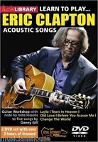 LICK LIBRARY Learn to Play ERIC CLAPTON ACOUSTIC SONGS Lesson Tutor GUITAR DVD