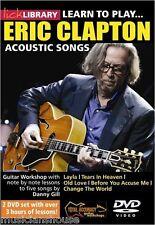 Lick Library Lernen Sie Eric Clapton ACOUSTIC LIEDER Gitarre spielen DVD Lektion