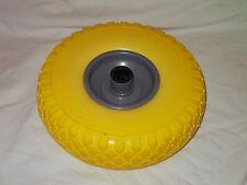Ruota 260x75 per carrello portapacchi piena poliuretano giallo cerchi metallo 20