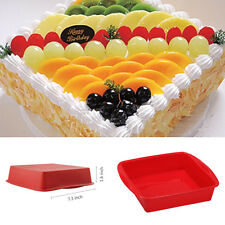 Food Grade Silicone BIG Square Cake Pan Bread Chocolate Pizza Baking Tray Mold