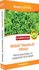 BioGold Vitamina K2 100 mcg 60 Comprimidos