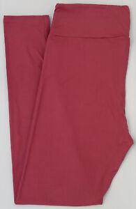 OS LuLaRoe One Size Leggings Beautiful Solid Rose Pink NWT 22