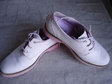 Size 6 Womens Shoes Sperry Top Siders Oxford Leather Nubuck Light Pink Tie 6M