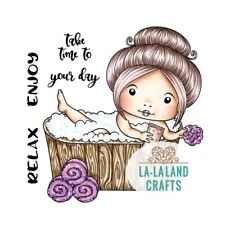 SPA MARCI-La-La Land Crafts Cling Mount Rubber Stamp-Stamping Craft-Bath Time