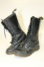 Dr. Martens Womens Size 38 7 HEAVILY DISTRESSED Leather 14 Eye Combat Boots