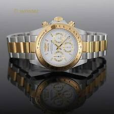Invicta Speedway Signature 18k Gold IP 2 Tone White Dial Chronograph 39mm Watch
