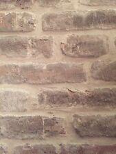 Vintage Rustic 3D Beige Cream Stone Slate Brick Effect Vinyl Wallpaper