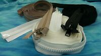 "#10 YKK Marine Zippers Black Beige White 6""- 240"" Heavy Duty Separating UV"