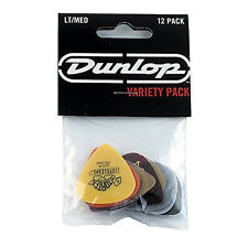 Dunlop PVP1.01 Assorted Guitar Pick Variety Pack, Light/Medium (12-Pack)1-Dozen