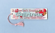 "Chartreux - Cat Bookmark w/Tassel ""A House Isn""T Home"" - Cahi026"