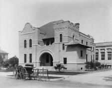 Photo. ca 1909. Riverside, California.  County Jail - horse & buggy
