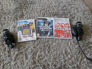 Singing Pack - Nintendo Wii - 2 X Microphones - 3 Games