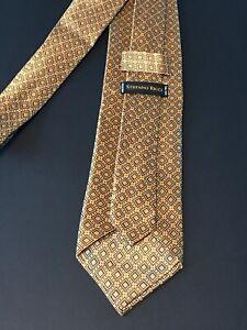 Stefano Ricci Liquid Silk Gold Tie with Diamonds