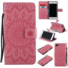 For Apple iPhone 5/5E 6S 7 8plus Flower Magnetic Flip Leather Wallet Phone Case