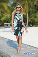 Sunflair Strandkleid beige blau gemustert Gr. 40,46 UVP 64,95€