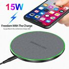 30W Metal Qi Wireless Charger Fast Charging Mat For iPhone 12 XS XR Samsung S21+