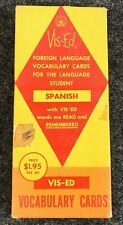 Vis-Ed Foreign Language Vocabulary Cards for SPANISH BB06-38
