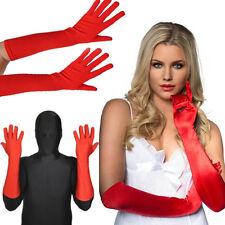 Red Long Lycra Stretch Glove Elbow Opera Superhero Costume Halloween Party XS-XL