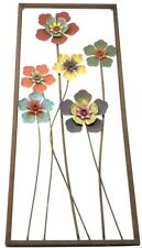 """Rusted Metal Floral Wall Decor Distressed Rustic Home Decor 12""""W X 28""""L"""