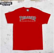 Thrasher Magazine Outlined T Shirt Red Men's Size Small