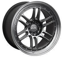 XXR 552 18X8.5 Rims 5x100/114.3 +36 Chromium Black Wheels (Set of 4)