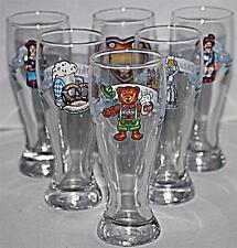 6 LOVELY UNUSUAL BOCKLING MINIATURE GERMAN OKTOBERFEST BEER FESTIVAL GLASSES