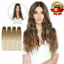US Super Tape In Human Remy Hair Extensions Real 100g 40pcs flowing woman hair