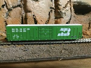 N Scale Red caboose 62' beer car  BN BURLINGTON NORTHERN mtl cplrs