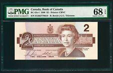 Canada 1986 - $2 Dollars Banknote PMG UNC 68 EPQ - TOP POP - Highest Grade