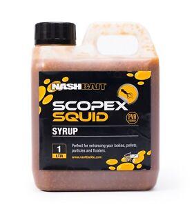 Nash Scopex Squid Syrup Liquid 1L Litre NEW Carp Fishing Glug Dip - B6858