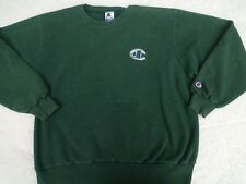 VINTAGE Champion Crewneck Pullover Sweatshirt Emerald green XL embroidered LOGO