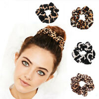 2PCS Leopard Print Hairband Scrunchie Elastic Scrunchy Ponytail Holder-RO