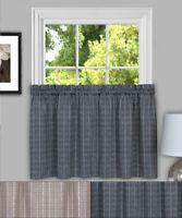 "Sydney Plaid Decorative Kitchen Window Curtain 36"" Tier Pair"