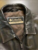 Columbia Sportswear Company Men's 100% Leather Jacket Made In USA Size M JA1