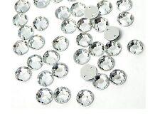 50 Glitzersteine 6mm crystal ● zum Aufnähen auf Textilien Strass-Steine