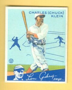 1934 Goudey #10 HOF'er CHUCK KLEIN CUBS! Triple Crown!