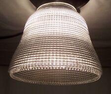 Antique HOLOPHANE NEW YORK Glass Shade Light 3 1/4 Fitter Vtg Prismatic Lamp N83