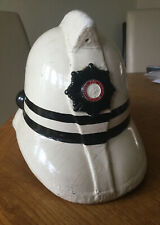 An old original White  Leather D.O. Fire  Helmet, Jas Hendry, Glasgow