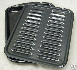 Broiler Broil Pan Rack Porcelain Large for Range Oven Stove for Range Kleen