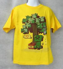 Minecraft Boys Love Bomb T-Shirt Yellow Size 4 Creeper Free Shipping