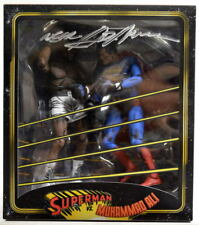 SUPERMAN vs MUHAMMAD ALI Action Figure 2 Pack HAND SIGNED NEAL ADAMS 2014 NECA