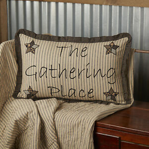 Farmhouse Star Gathering Place Pillow 14x22