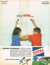 PUBLICITE ADVERTISING 124  1962  TOTAL  station service les TOILETTES