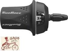 SUNRACE M21 3 SPEED BLACK/GREY BICYCLE GRIP TWIST SHIFTER