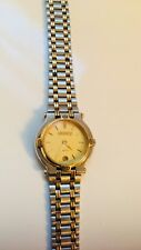 Vintage Ladies Gucci 9000L Two-tone Gold & Stainless Steel Watch