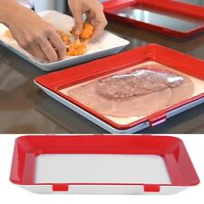 Kitchen Food Meats Containers Preservation Tray Storage Organizer Reusable