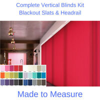 VERTICAL BLINDS - BLACKOUT FABRIC -  MADE TO MEASURE  -  COMPLETE KIT  -  (89mm)