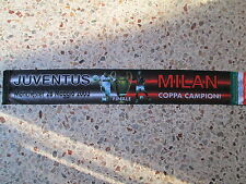 sciarpa MILAN - JUVENTUS final champions league 2003 football club scarf