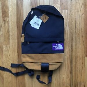 NWT The North Face Purple Label Urban Navy Blue Suede Medium Day BackPack Bag
