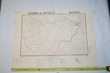 AF1 Carte - Champs de Bataille de l Yser - Mézières